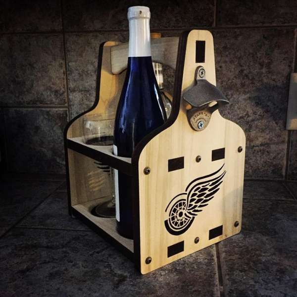 Bomber Caddy | 22 oz Beer Holder | Wine Bottle Caddy | Bomber Beer Tote | Bottle Caddy | Wooden Beer Caddy | Wine Carrier | Wine Tote