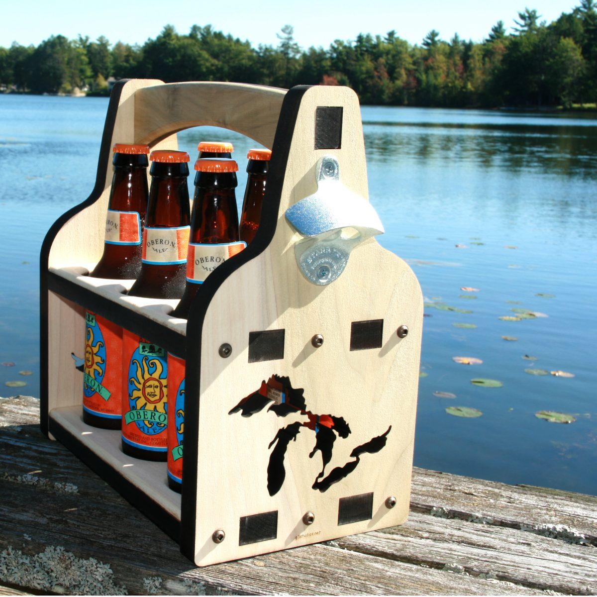 Wooden_Beer_Caddy, Beer Caddy