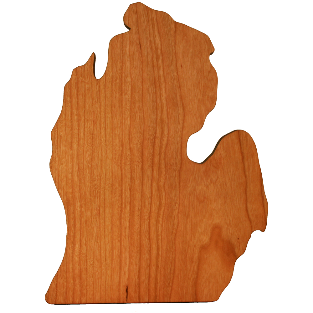 State Shaped Wood Cutting Board