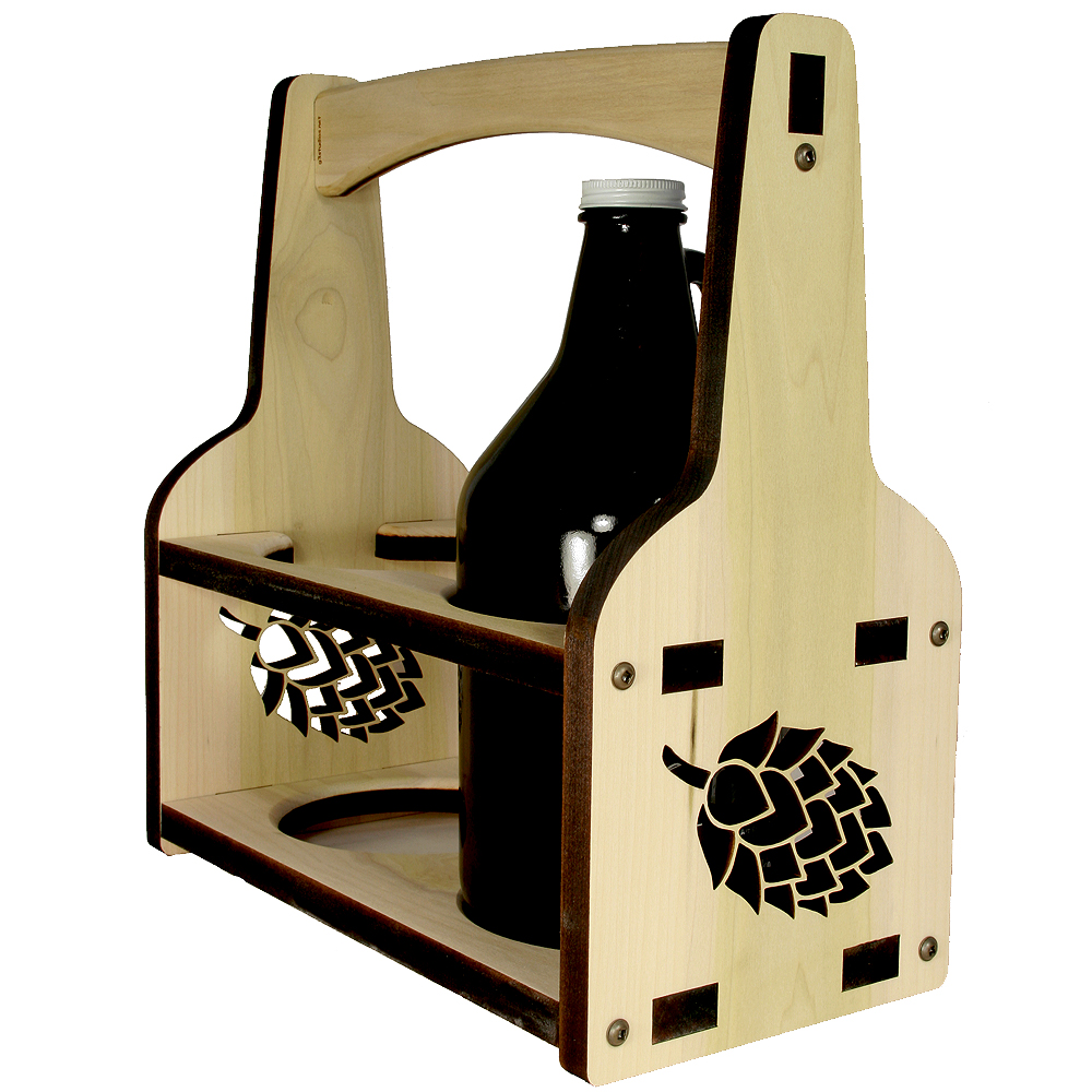 Growler Holder Beer Caddy - Hops