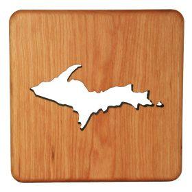 Wooden-Trivet _ Michigan - Showing Upper Peninsula