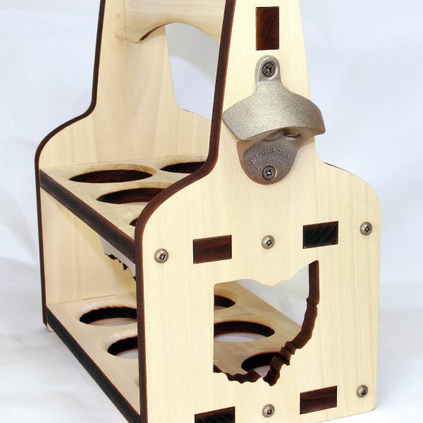 State of Ohio Cut Out 6 pack Beer Caddy