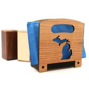 wooden napkin holder - michigan