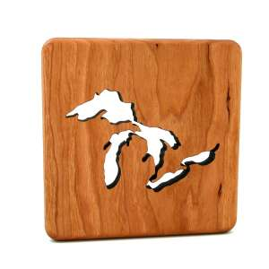 wooden_trivet_Great_Lakes - Wood Trivet
