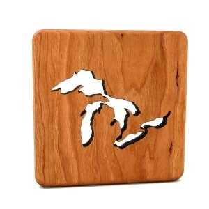 wooden_trivet_Great_Lakes - Wood Trivet