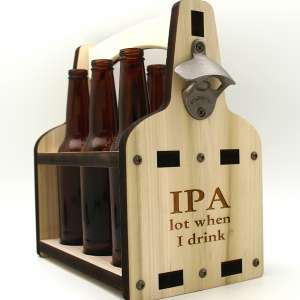 6 pack Beer Bottle Caddy - IPA